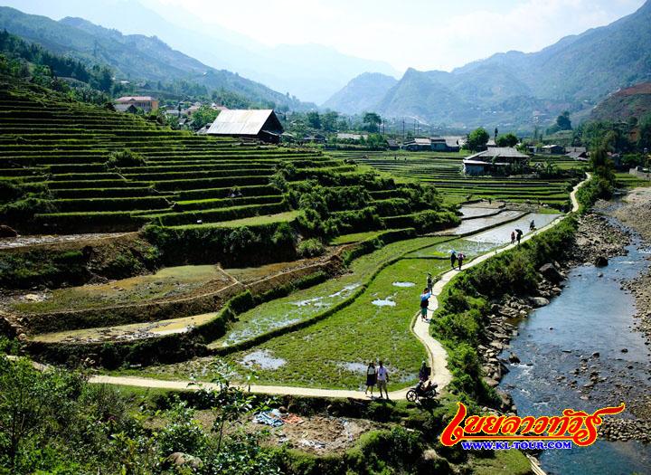 หมู่บ้านม้ง ซาปา เมืองซาปา เวียดนามภาคเหนือ