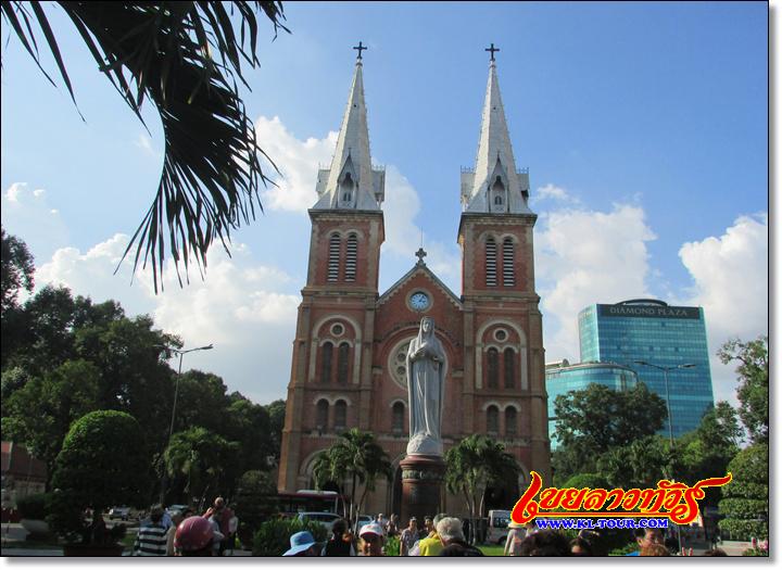 โบสถ์นอร์เทอดาม กรุงโฮจิมินห์ซิสตี้ เวียดนามภาคใต้