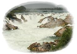 น้ำตกคอนพระเพ็ง หรือ ไนแองการ่าเอเชีย เที่ยวลาวใต้ จำปาสัก